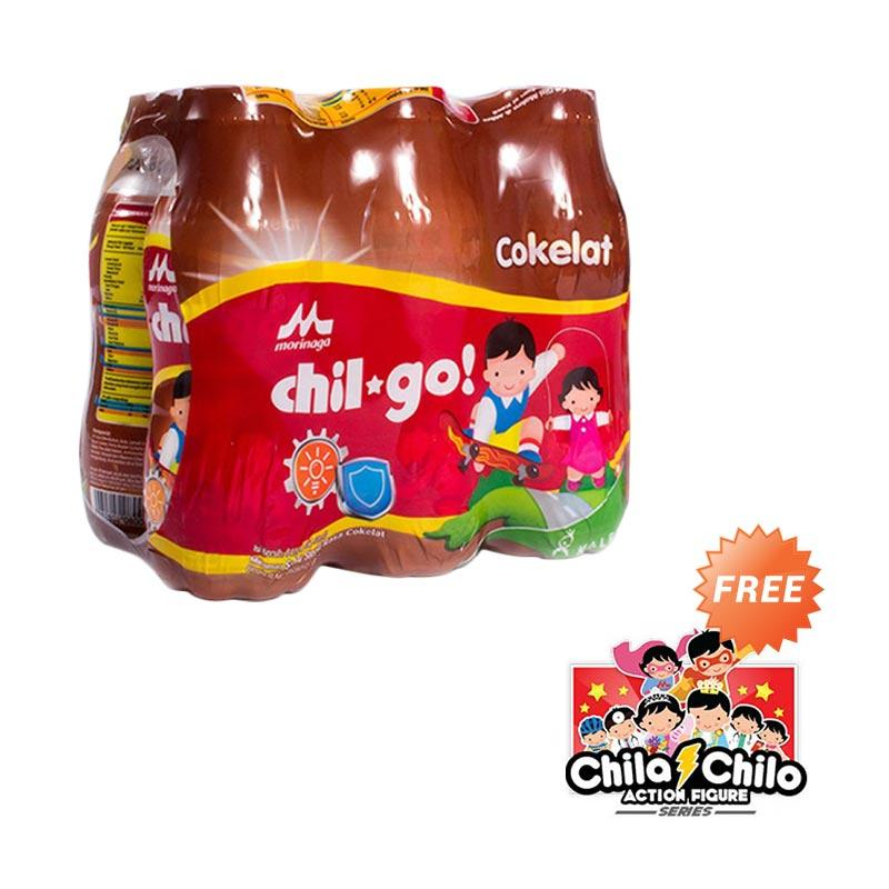 Morinaga Chil Go Cokelat [140 mL/6 Pcs/FREE 1 Action Figure Chila Chilo]
