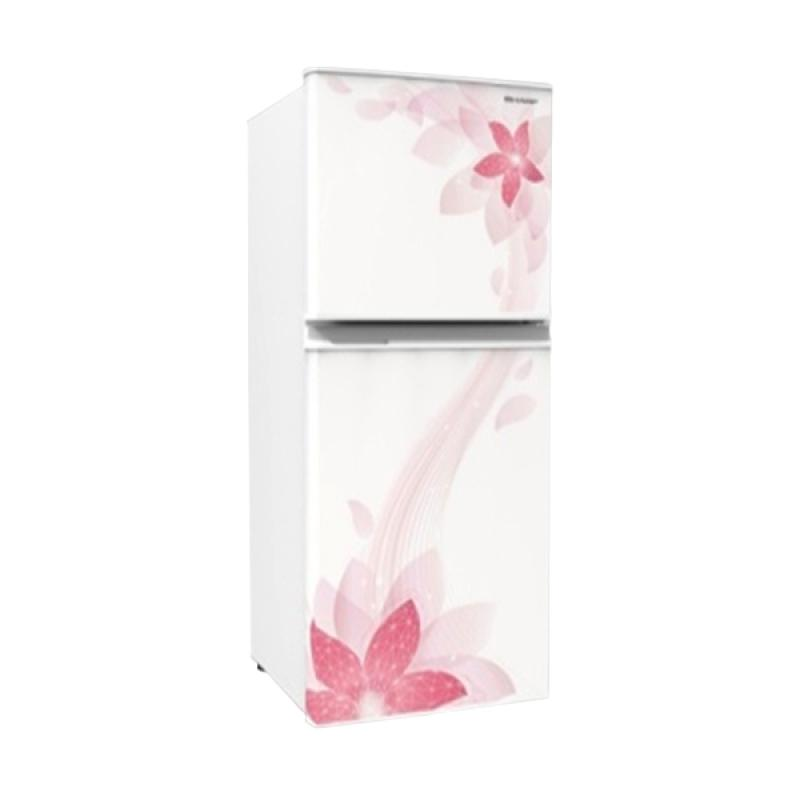 Sharp SJ-236ND-FW Kirei II Refrigerator - Flower White [2 Doors/ 187L]