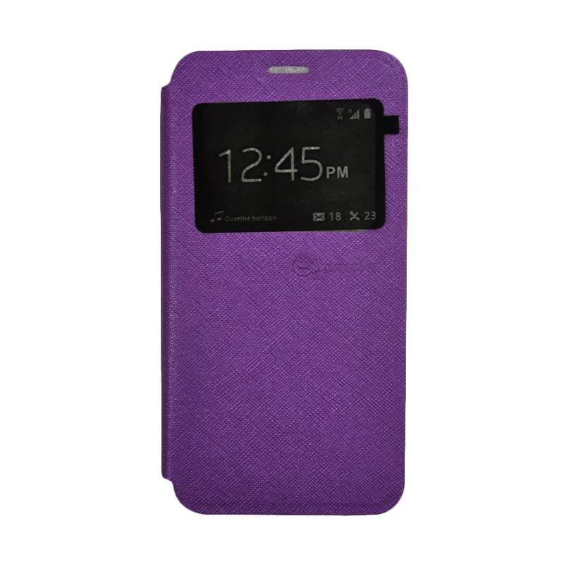 SMILE Standing Flip Cover Casing for Lenovo K4 Note A7010 - Purple