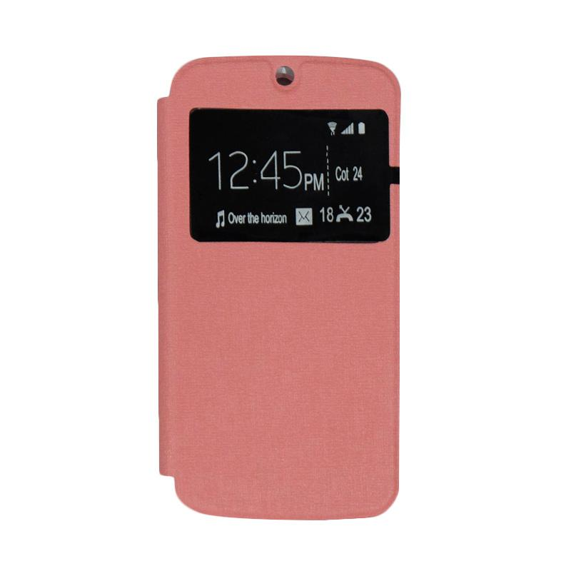 Ume Flipshell Flip Cover Casing for Acer Liquid Jade S55 - Soft Pink