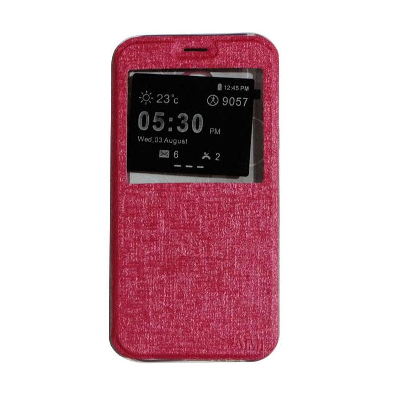 Aimi Flipshell Flip Cover Casing for Samsung Galaxy A520 or A5 2017 - Pink