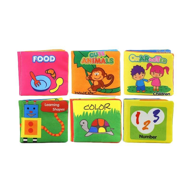 harga Best Baby Toy Soft Books Mainan Edukasi Buku Kain Bayi [6 pcs/set] Blibli.com