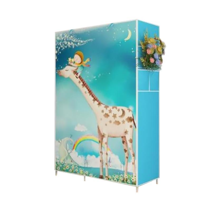 Gogo Model 2 Layer Lemari Pakaian Portable Giraffe Lemari Pakaian