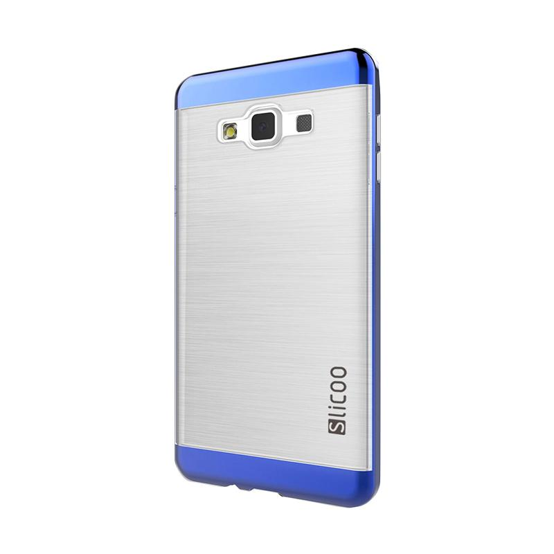 Slicoo Clear Side Cover Hardcase Casing for Samsung Galaxy A7 - Biru