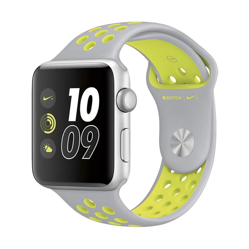 LOLLYPOP Strap Nike Sports Band for Apple Watch Wearable Gadget - Grey Yellow [42 mm]
