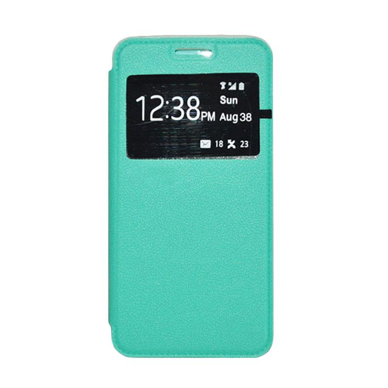 OEM Book Cover Leather Casing for Samsung Galaxy Grand Max - Green
