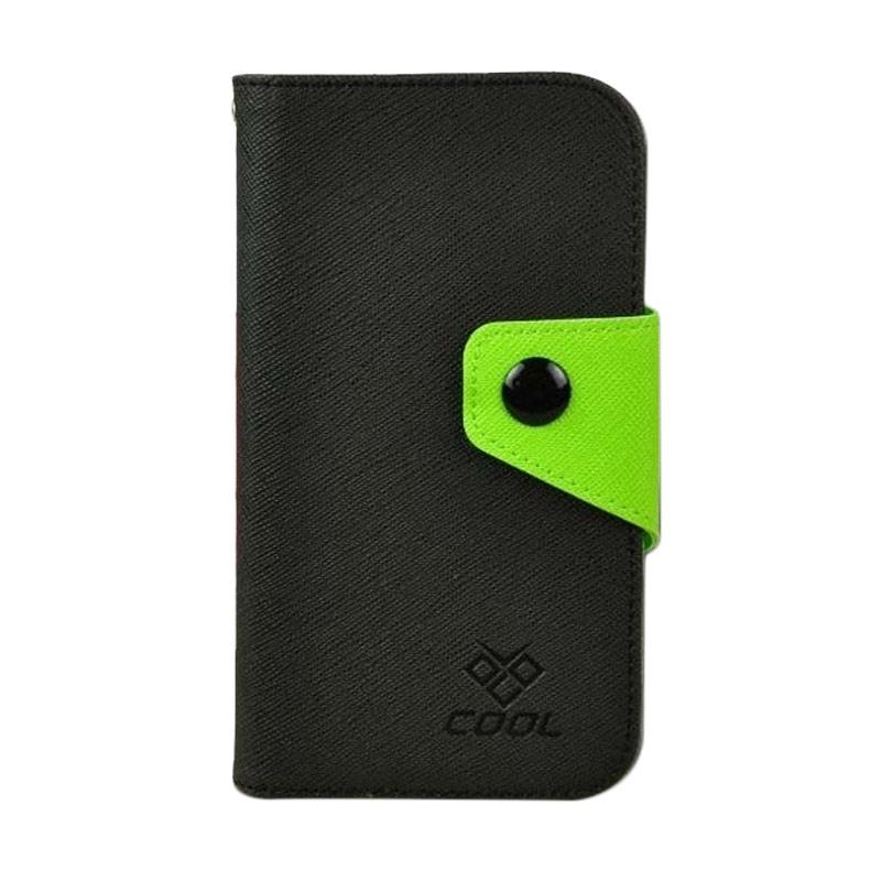 OEM Rainbow Flip Cover Casing for Alcatel OneTouch Pop Up - Hitam