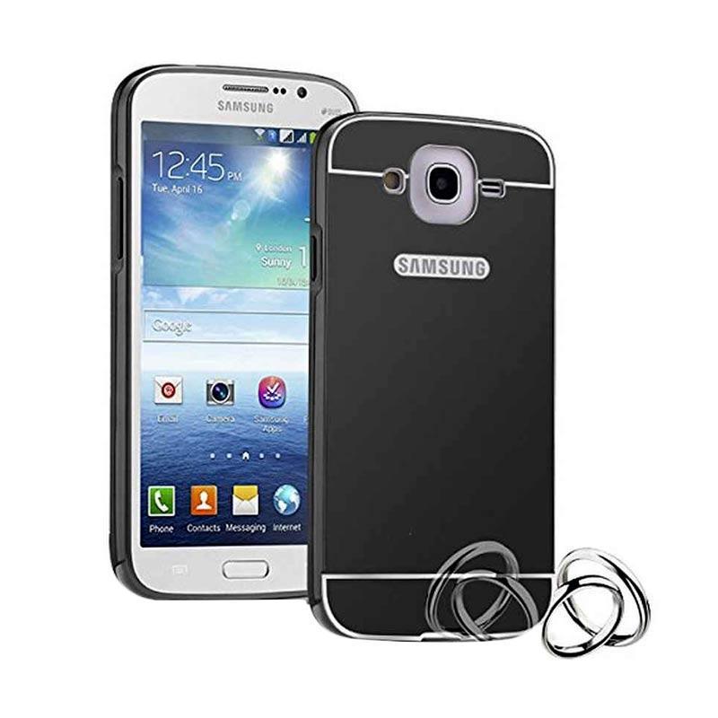 Case Bumper Metal with Back Case Sliding Casing for Samsung Grand Prime Plus - Black