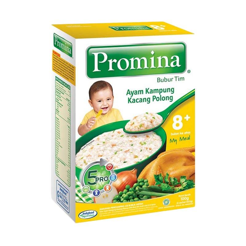 harga Promina Bubur Tim 8+ Ayam Kampung Kacang Polong Makanan Bayi [100g x 5pcs] Blibli.com