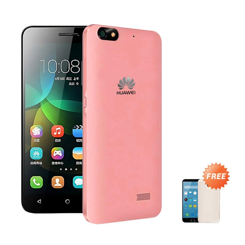 Ultrathin Casing for Huawei Honor 4c - Red Clear + Free Ultra thin