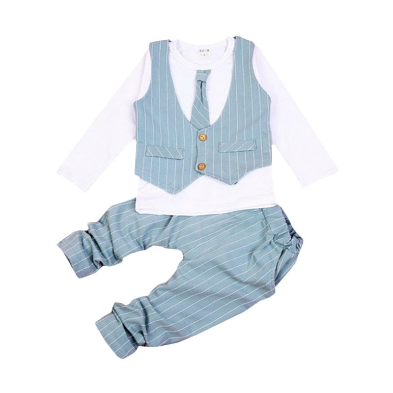 Chloe Babyshop F966 Toxedo 3in1 Dasi Panjang Stripe - Green