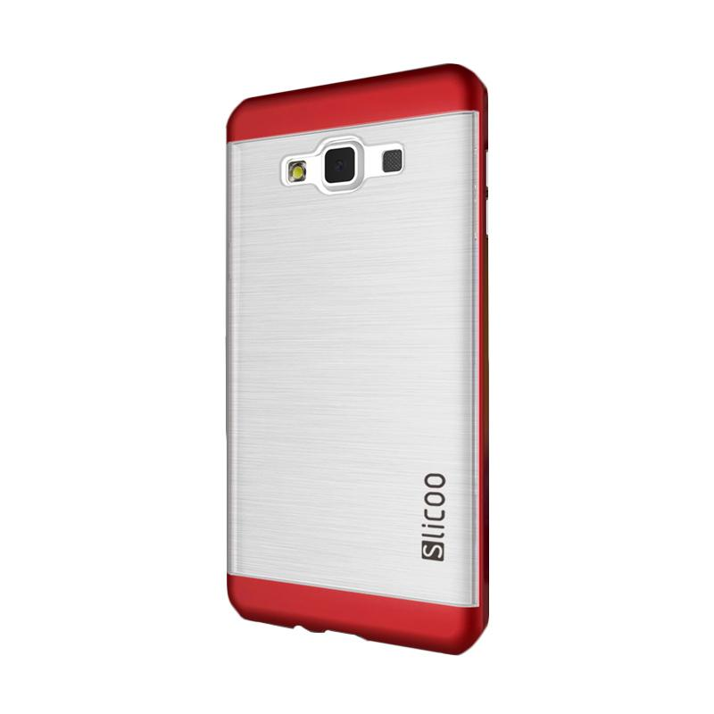 Slicoo Clear Side Cover Hardcase Casing for Samsung Galaxy A5 - Merah