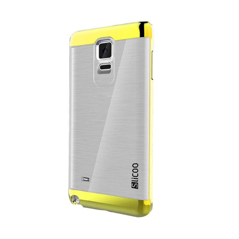 Slicoo Clear Side Cover Hardcase Casing for Samsung Galaxy Note 4 - Kuning
