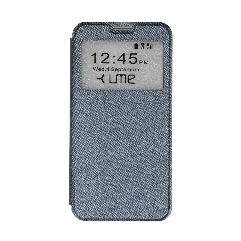 UME Flipshell Flip Cover Casing for Coolpad Fancy 3 E503 5.5 Inch - Silver