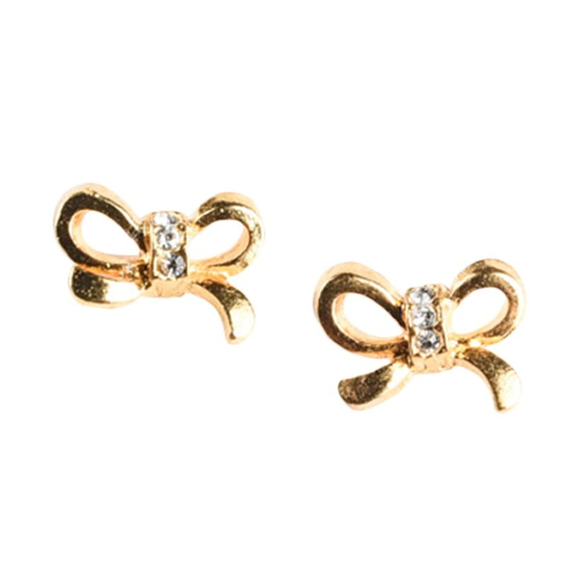 1901 Jewelry Anting Little Ribon Studs 6000 GW.6000.HR47 Gold Anting
