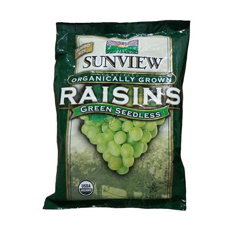 harga Sunview ORGANIC Green Seedless Raisins (KEMASAN KALENG x 425Gr) Blibli.com