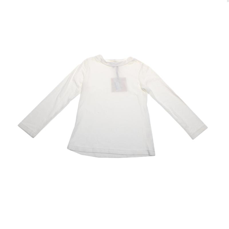 Adel & Audrey Top Long Sleeve 077 Atasan Anak Perempuan - White