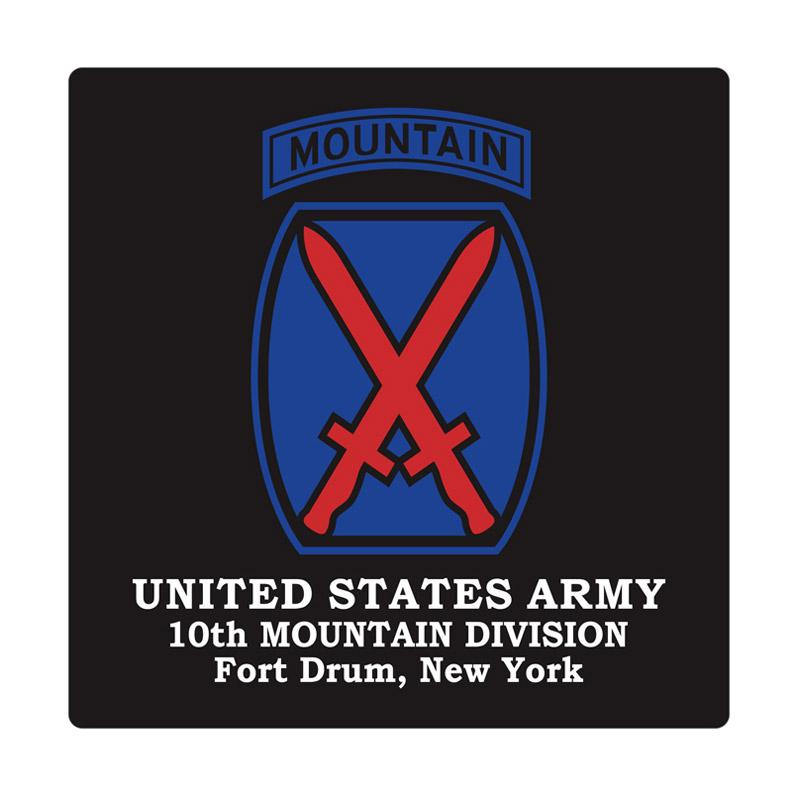 Kyle United States Army 10th Mountain Division Cutting Sticker