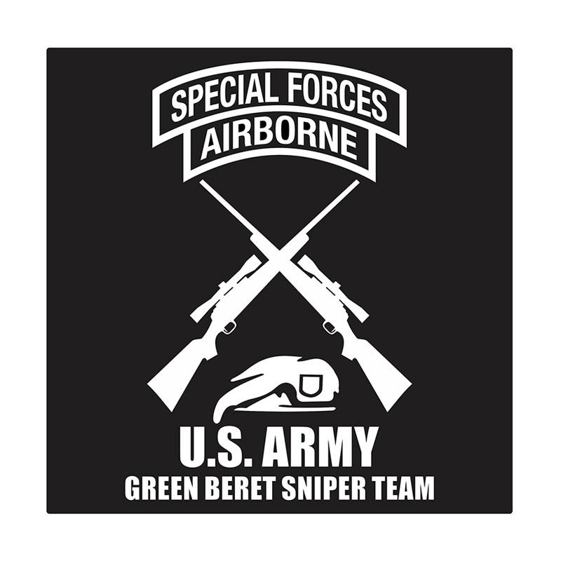 Kyle United States Army Green Beret Sniper Team Cutting Sticker