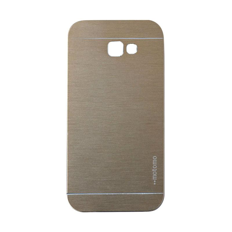 Motomo Metal Hardcase Casing for Samsung Galaxy A720 or A7 2017 - Gold