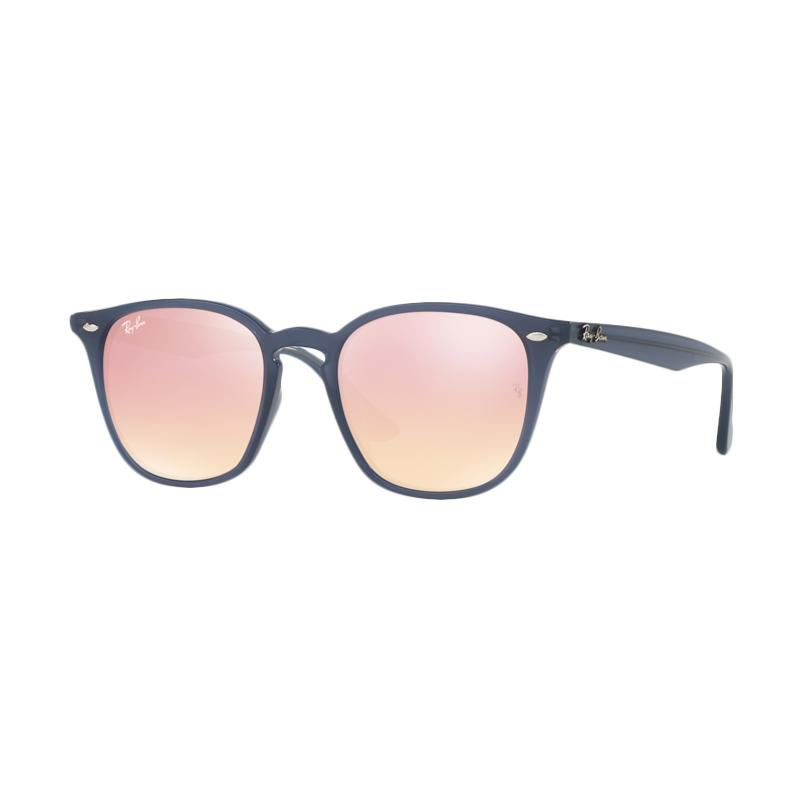 Ray-Ban Rb4258F - Shiny Opal Dark Azure [62321T/Size 52/Pink Flash Copper]