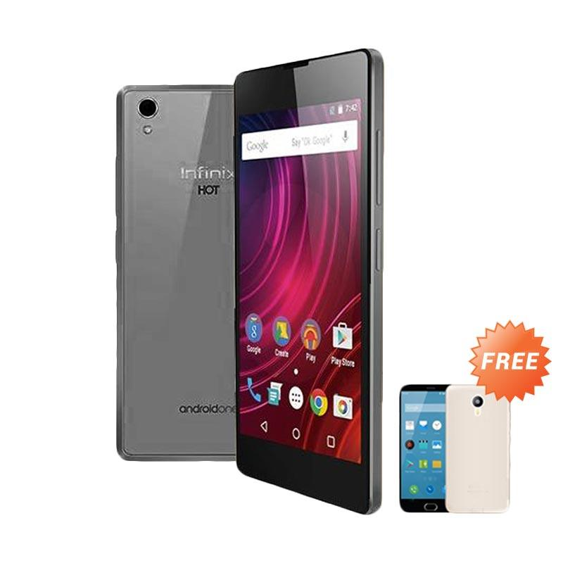 Ultrathin Casing for Infinix Hot 2 - Grey Clear + Free Ultra Thin