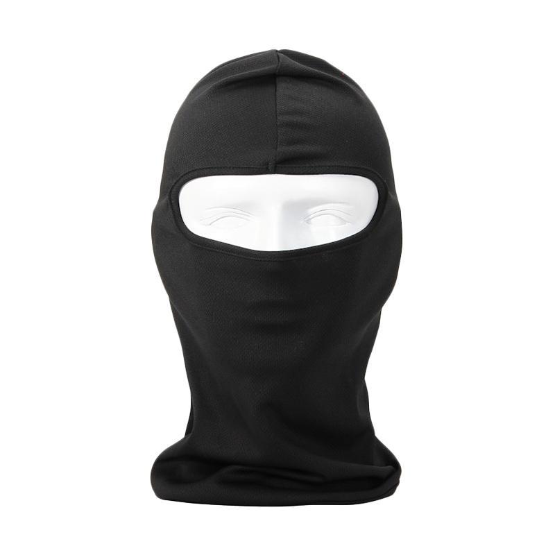 Universal Balaclava Full Face Spandex Masker Motor - Black