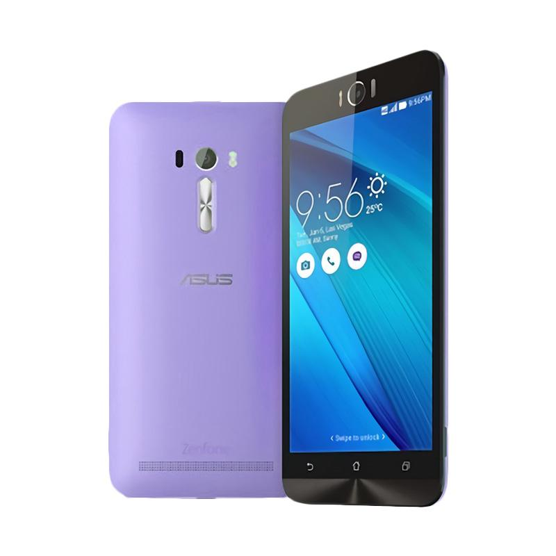 Ultrathin Aircase Casing for Zenfone Laser 5.5 Inch - Purple Clear
