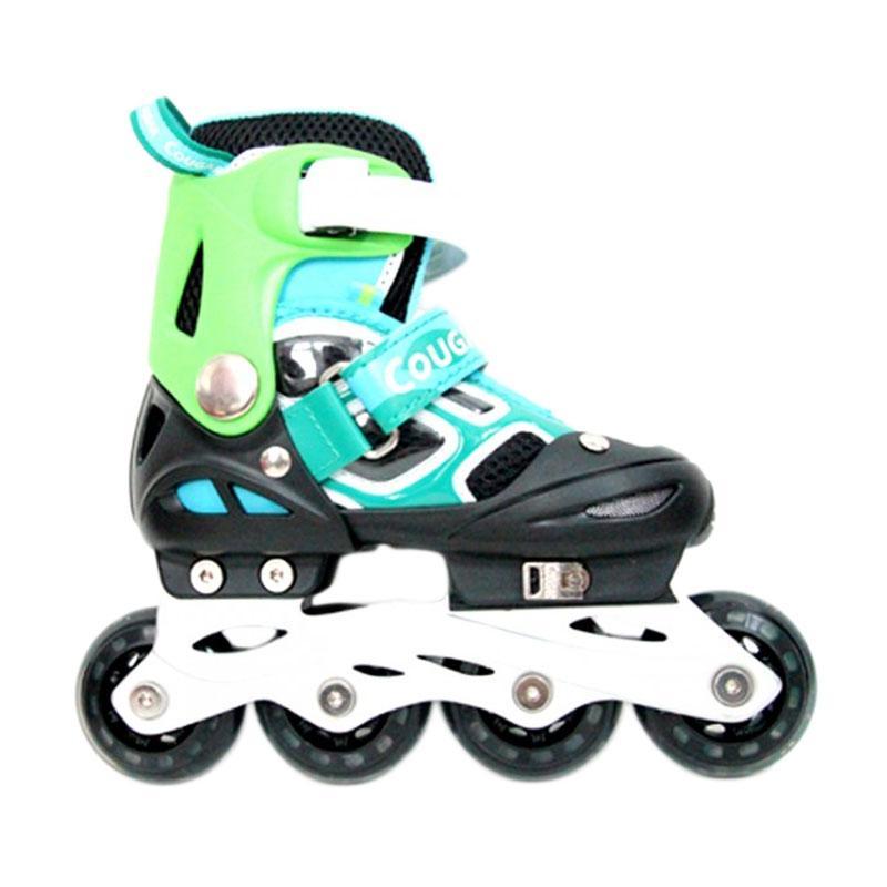 harga Cougar MZS835LSG ADJ. Inline Skate W-ABEC7 Sepatu Roda - Black Green [38-41] Blibli.com
