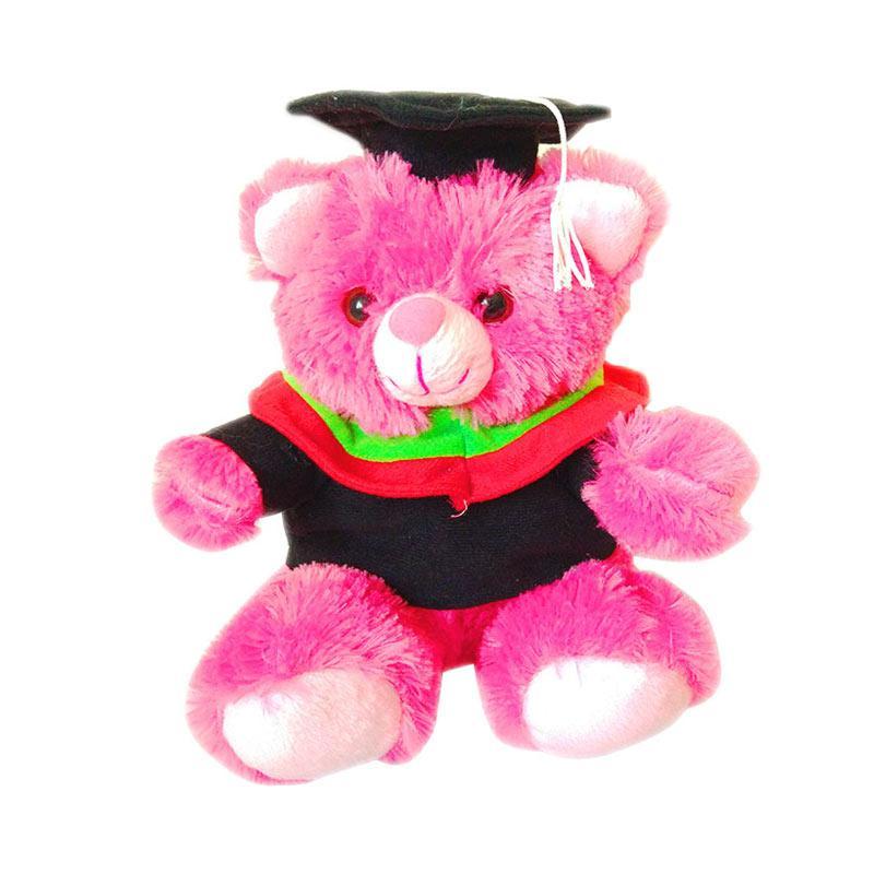 Istana Kado Teddy Bear Wisuda Toga Kain MOI IKO00761 Boneka - Pink