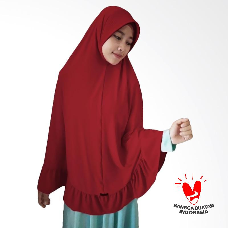 Milyarda Hijab Bergo Pet Ihrom Kerudung Instant - Merah