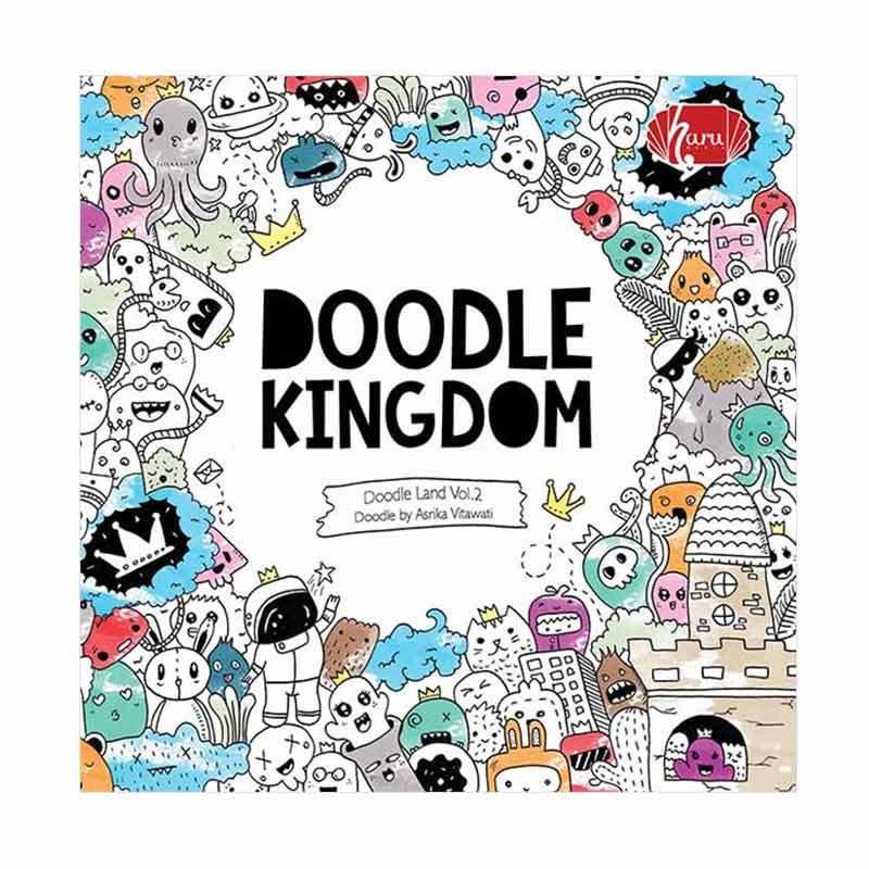 Penerbit Haru Doodle Kingdom Coloring Book By Asrika Vitawati