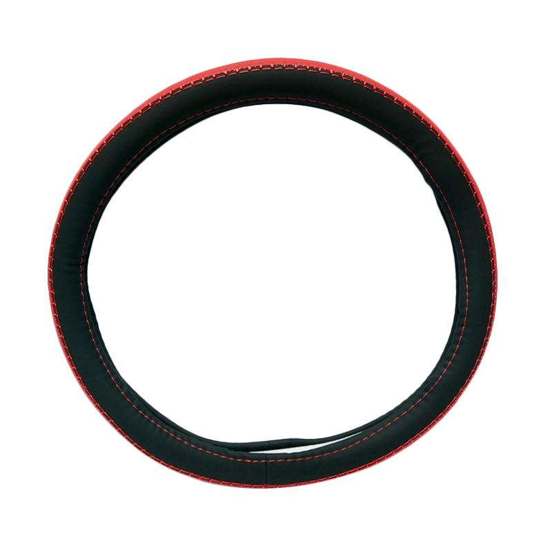 SIV Sarung Stir Mobil Import 5260 Steering Wheel Cover - Black Red