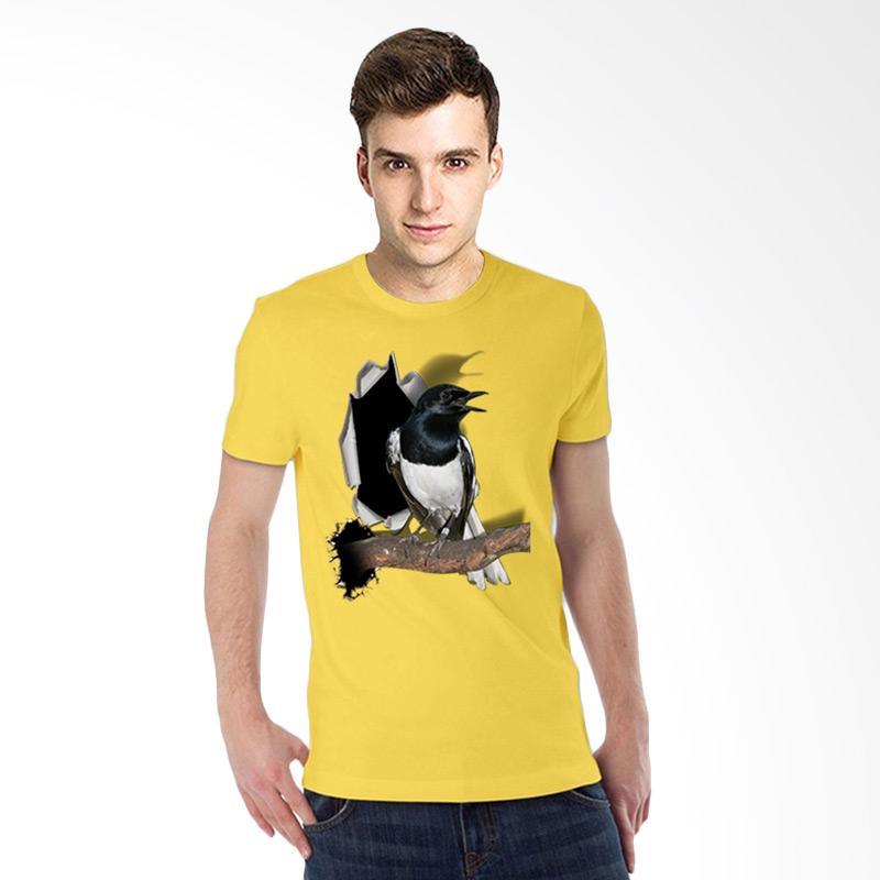 harga T-SHIRT GLORY 3D Burung Kacer Poci Kaos Pria - Kuning Blibli.com