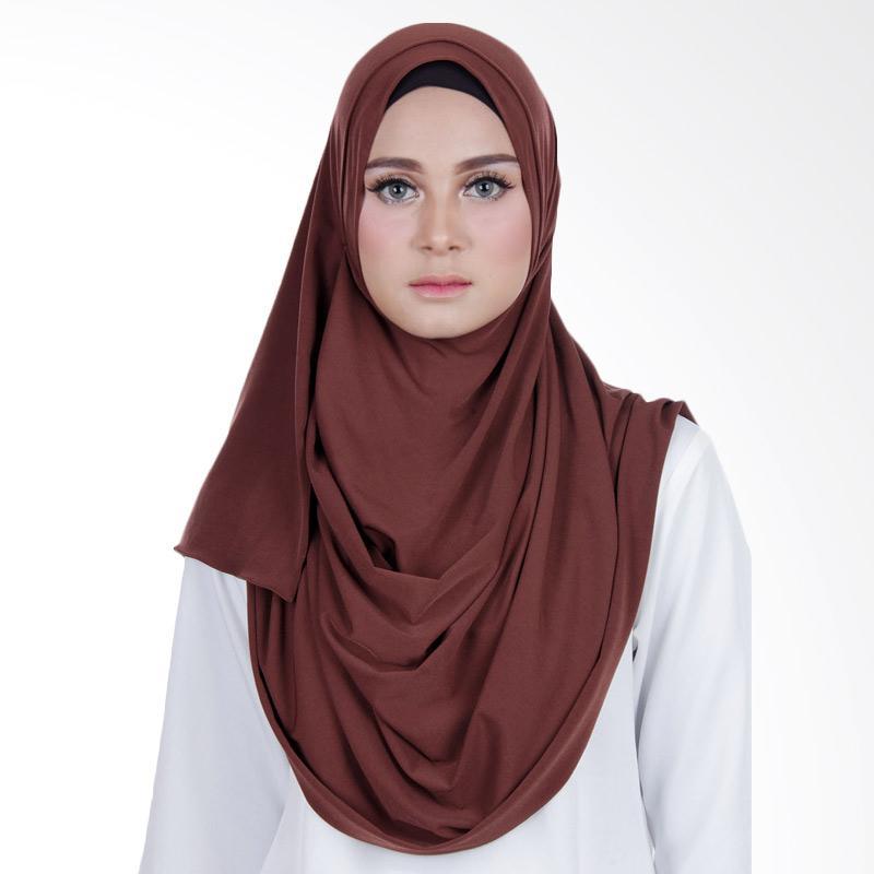 Cantik Kerudung Sheefa 2 Face Lycra Hijab Instan ��� Brown