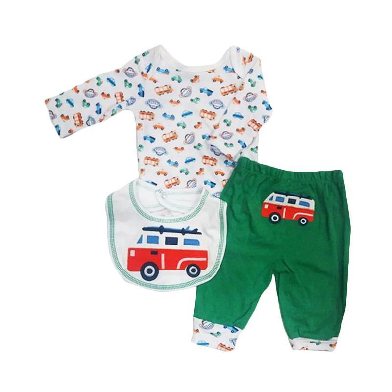 Chloebaby Shop F939 Carter's Bus School Jumper 3in1 - Green