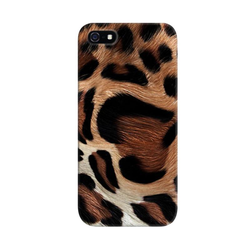 Indocustomcase Leopard Skin Custom Hardcase Casing for Apple iPhone 5/5S/SE