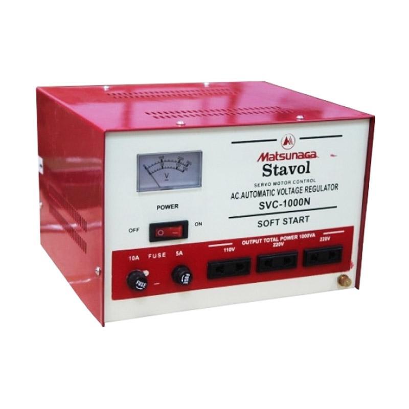 harga Matsunaga Voltage SVC-1000N Stavolt Motor Stabilizer [1000VA] Blibli.com