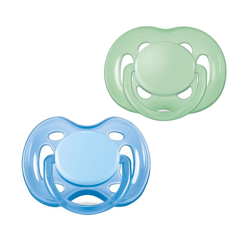 harga Philips Avent Soother Twin Free Flow Baby Pacifier - Blue Green [6-18 Month] Blue Green Blue Green Blibli.com