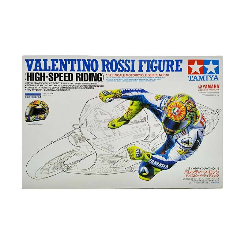 harga Tamiya Valentino Rossi Figure High-Speed Riding Model Kit [1 : 12] Blibli.com