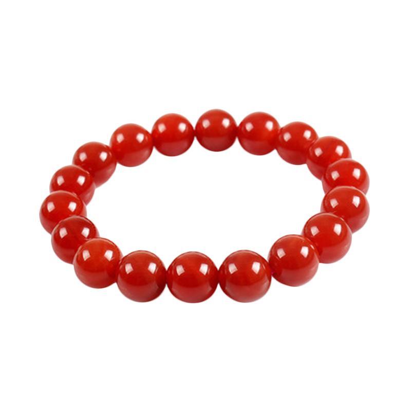 harga Bella & Kate Batu Akik Merah Asli Natural Bead Bracelet Red Agate Gelang Wanita Blibli.com