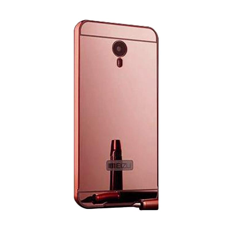 Bumper Case Mirror Sliding Casing for Meizu M2 - Rose Gold