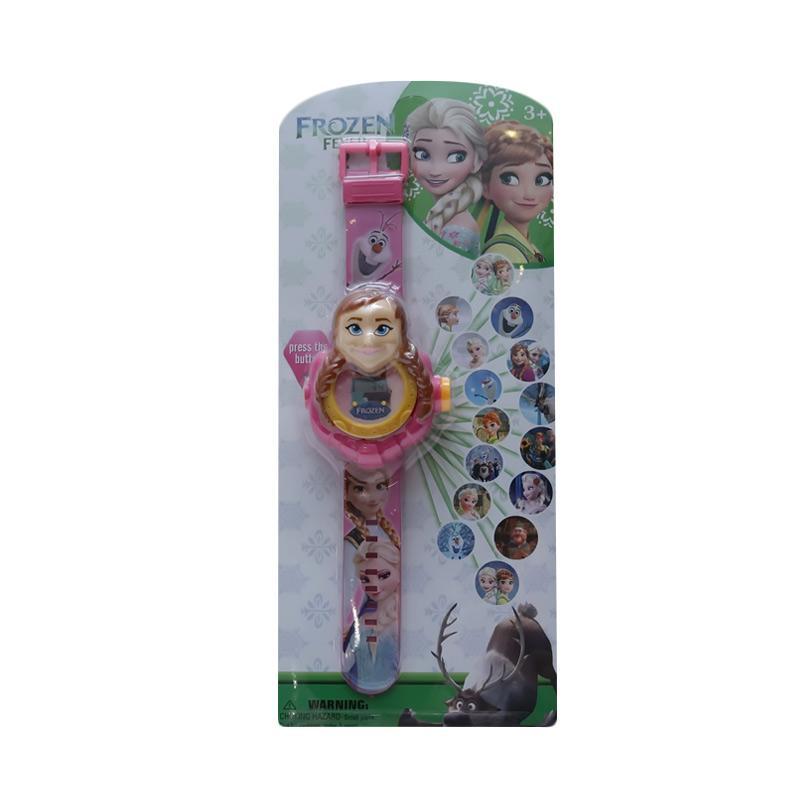 Chloebaby Shop 20 Frozen Anna Jam Tangan Projector - Pink