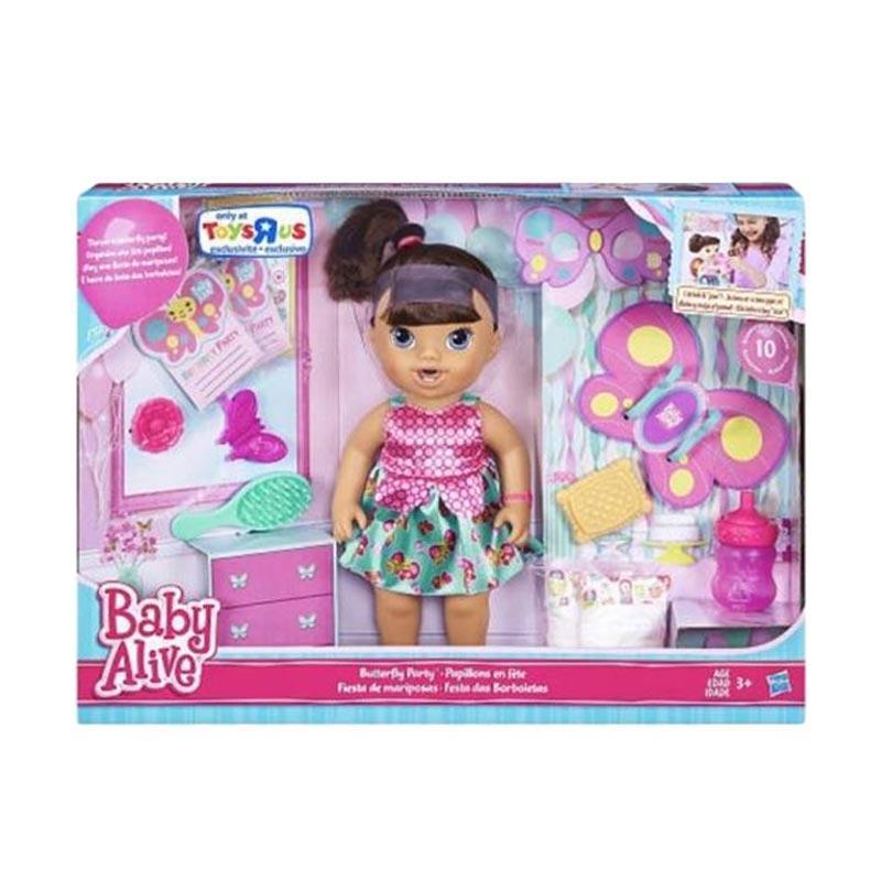 harga Hasbro Baby Alive Butterfly Party Brunette Doll Mainan Anak Blibli.com