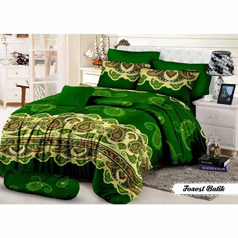 Khawla Disperse Forest Batik Set Sprei dan Bed Cover