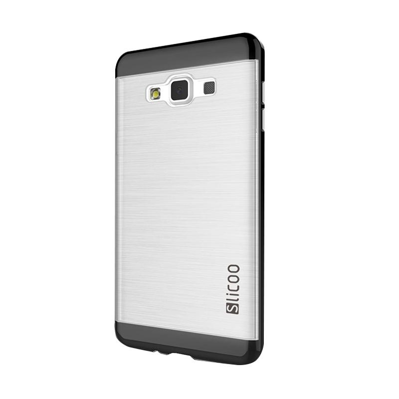 Slicoo Clear Side Cover Hardcase Casing for Samsung Galaxy A7 - Hitam