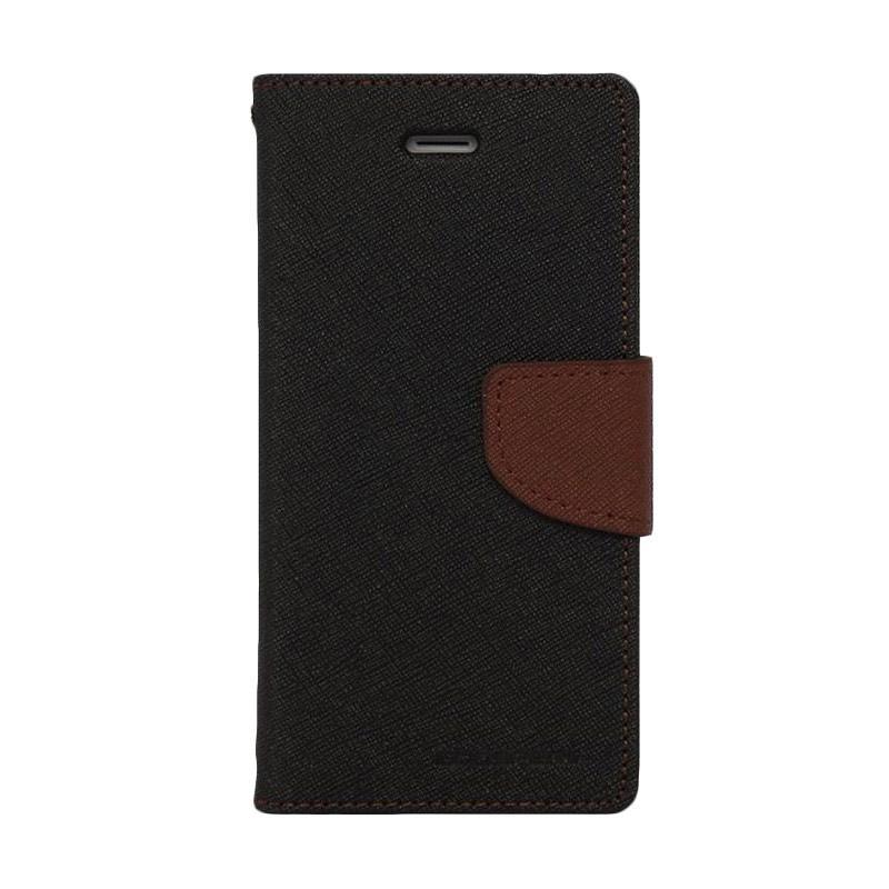 Mercury Fancy Diary Casing for Samsung Galaxy Note 5 N920  - Hitam Coklat