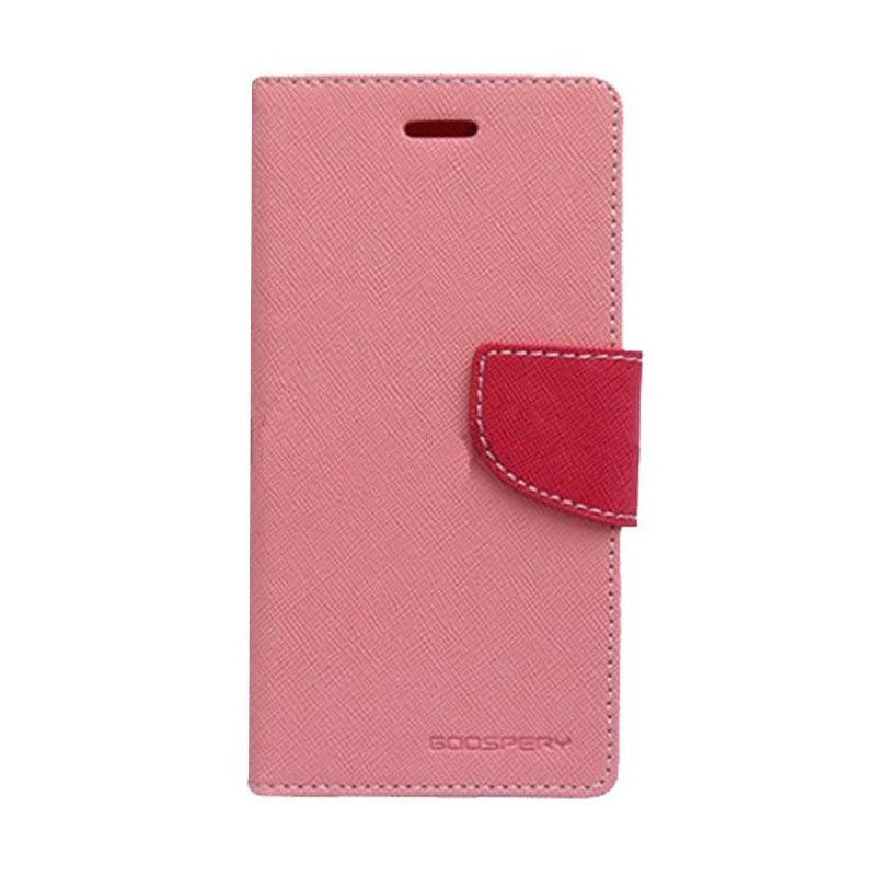 Mercury Fancy Diary Flip Cover Casing for Samsung Galaxy Note 7 N930 - Pink Magenta