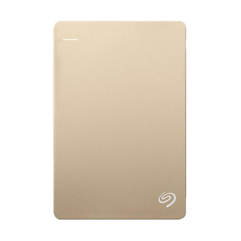 Seagate Backup Plus Slim Harddisk Eksternal - Gold [2 TB/ 2.5 Inch/ USB3.0]