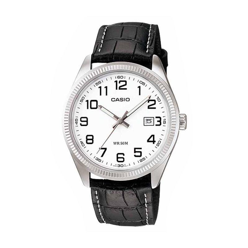 Casio MTP-1302L-7BV Standard Analog Watch Jam Tangan Pria - Hitam Putih